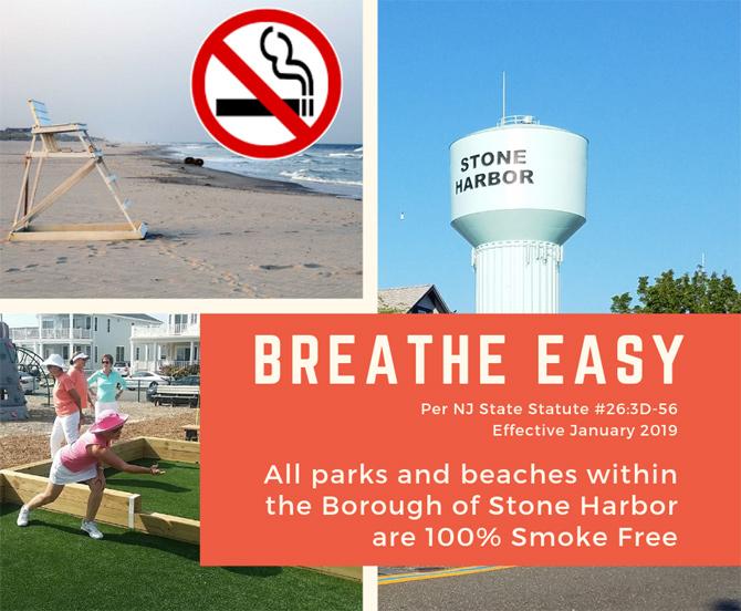 Stone Harbor, NJ Beaches and Parks Smoke Free